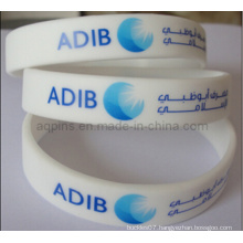 Custom Silicone Bracelet with Printed Logo