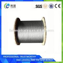 8x19s + Fc Línea de contacto lineal Cuerda de alambre de acero