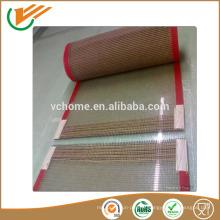Food Grade China tapis de transport en caoutchouc de haute qualité ptfe téflon en caoutchouc recouvert de fibre de verre
