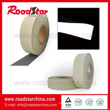 Grey high intensity Reflective Artificial pvc foam Leather