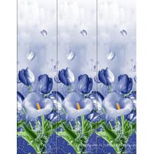 Tissu imprimé polyester transparent de style différent