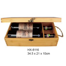 Bamboo Wine Gift Box For 2 Bottle