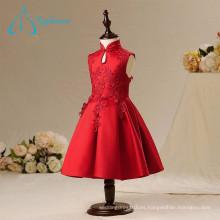 Venta al por mayor hermosa de moda vestidos de niña de flor simple