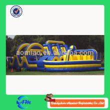 Obstacle gonflable chaud et bon marché, course d'obstacles gonflable, barrière gonflable