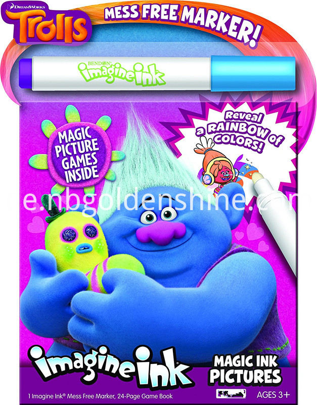 Trolls Magic Ink Pictures Book