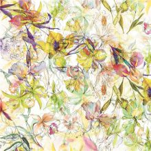 100% Silk Satin Digital Print Fabric for Women Cloth (TLD-0045)