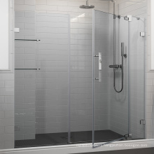 Seawin Frameless Chrome Frosted Tempered clear glass Bathroom pivot Shower swing Doors