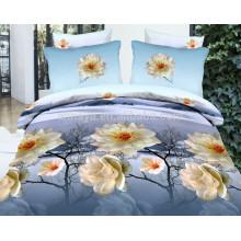 100% poliéster microfibra escovado tamanho duplo China Têxtil tecido conjunto de folhas de cama