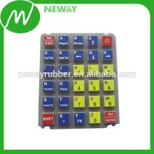 Kundenspezifische Farbsilikon-Gummi-Tastatur