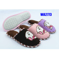 Women's Embroidery Winter Jersey Indoor Slippers Soft Terry Collar