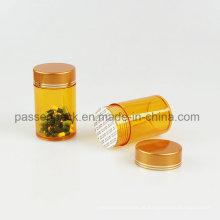 Amber pet garrafa farmacêutica para medicina cápsula (PPC-PETM-011)