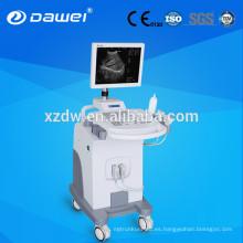 La mejor máquina de ultrasonido y equipo de ultrasonido de carro médico con sonda trans vaginal
