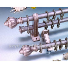 New style 28mm aluminum curtain rod with crown finials