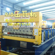 Máquina formadora de rollo de hoja de techo 910