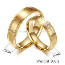 Italian designs 18k gold plating ring, titanium steel couple rings