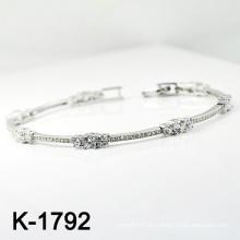 El micr3ofono de plata de la manera pavimenta la pulsera de la CZ (K-1792. JPG)