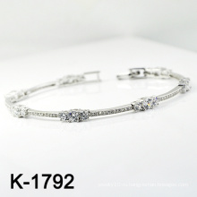 Мода Серебряный Micro Pave CZ браслет (K-1792. JPG)
