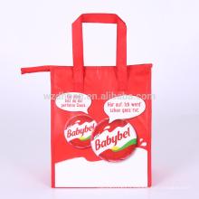 Grand sac fourre-tout non tissé stratifié réutilisable en gros de sac à lunch de sac à lunch avec la poignée