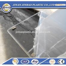 SGS disponible excelente calidad hoja de plástico transparente de plexiglás