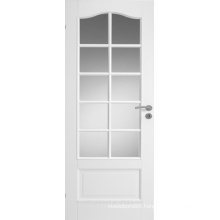 Contemporary Elegant French Style White Interior Wooden Door