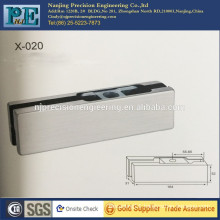 mirror polished stainless steel fabrication upper clamp for glass door