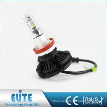 Luces del vehículo de X3 50w 6000lm con el CE Rohs 2 años de garantía del bulbo auto del coche h8 h9 h11 de la garantía