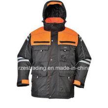 China Factory Wholesale Safety Parka High Visibility Jacket