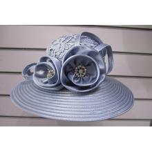 Sombreros de alta costura cubiertos de tela para mujer