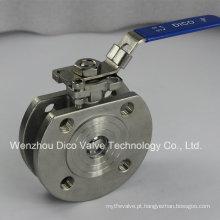 Válvula de esfera de aço inoxidável com alça de travamento