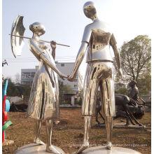 2016 Neue hochwertige Edelstahl-Skulptur Über Liebes-Statue