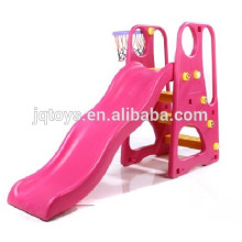 Fábrica directa JQ3017 Niños plástico al aire libre Play Pink Slide