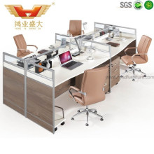 Hot Sale Modern Stright Way Office Workstation for 4 Person (HY-P08)