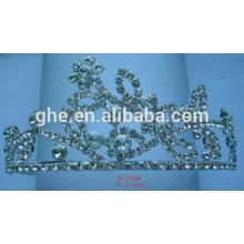 Cristal Aniversário, tiara, dental, aço inoxidável, coroa, rosa, fada, tiara, rainha, plena, tiara, para casamento