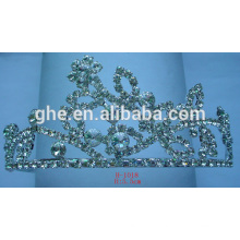 Кристалл день рождения тиара стоматологическая нержавеющая сталь корона розовый фея тиара королева полная тиара для свадьбы