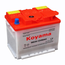 56030 (12V60AH) DIN Padrão Dry Car Car Battery