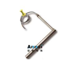 Elemento de aquecimento de haste de titânio para líquido de corrosão industrial