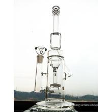Neueste Design 16 Zoll Höhe Trichter Recycler Glas Rauchen Wasser Rohr