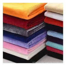 Hot selling factory outlet 100% polyester woven soft korean crystal velvet fabric