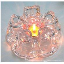 Novo design coração forma vidro chaleira chaleira para atacadista