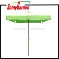 2 * 2M Patio-Buche-Quadrat-Regenschirm mit Plastikläufer, Nabe und abschließendem oberstem 250G Acrylgewebe