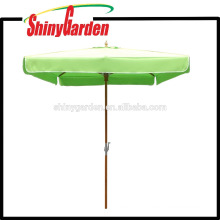 2*2M Patio Beech Square Umbrella with plastic runner,hub and final top 250G Acrylic Fabric