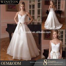Оптовые новые конструкции предлагают плечо милая двойного слоя последние свадебное платье конструкции