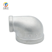 Stainless steel pipe fitting reducing 90 degree elbow for water supply