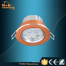 Iluminação de teto do diodo emissor de luz do destaque do teto do globo da lâmpada 5 * 1W