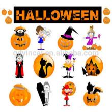 Tatouage personnalisé non-taxic autocollant de conception de fantôme de citrouille de crâne Tatouage d'autocollant de Halloween