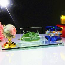 Suporte de caneta de cristal moderno simples criativo para decoração de escritório