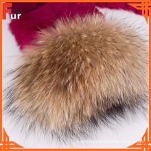 Para las mujeres cubren el manguito de piel de mapache