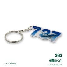 Druck Flugzeug Logo Schlüsselanhänger mit Epoxy für Geschenk