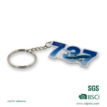 Printing Airplane Logo Key Ring with Epoxy for Gift
