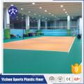 100% pur environnement en plastique protégé sécurité antidérapant anti-dérapant absorption des chocs orange litchi volley-ball plancher d'intérieur
